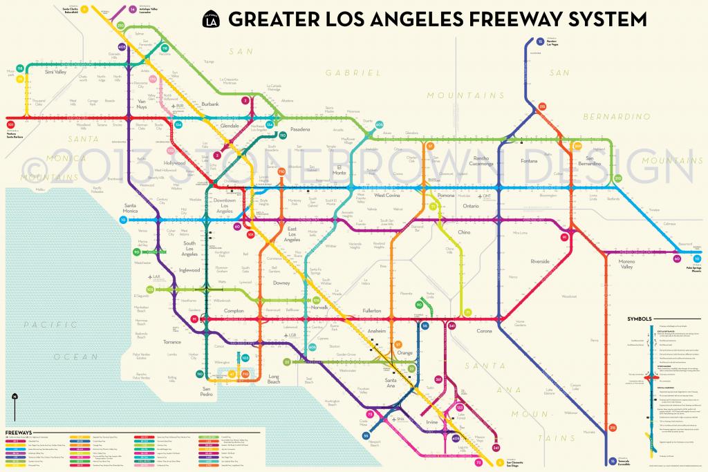 Los Angeles Freeways - Los Angeles Freeway Map Printable