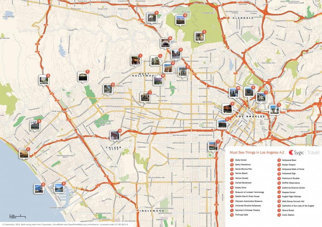 Los Angeles Printable Tourist Map | Sygic Travel - Los Angeles Tourist Map Printable