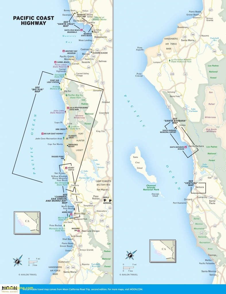 Los Angeles To San Francisco Pch Map – Map Of Usa District - California Coast Map 101