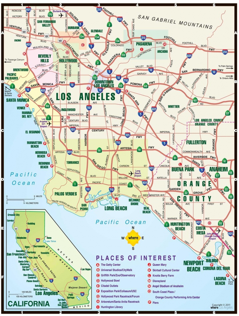 Los Angeles Toll Roads Map - Map Of Los Angeles Toll Roads - California Toll Roads Map