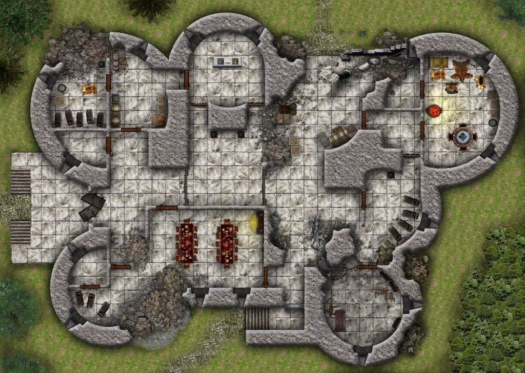 Lost Mine Of Phandelver: Cragmaw Hideout And Cragmaw Castle (Battlemaps) - Cragmaw Hideout Printable Map