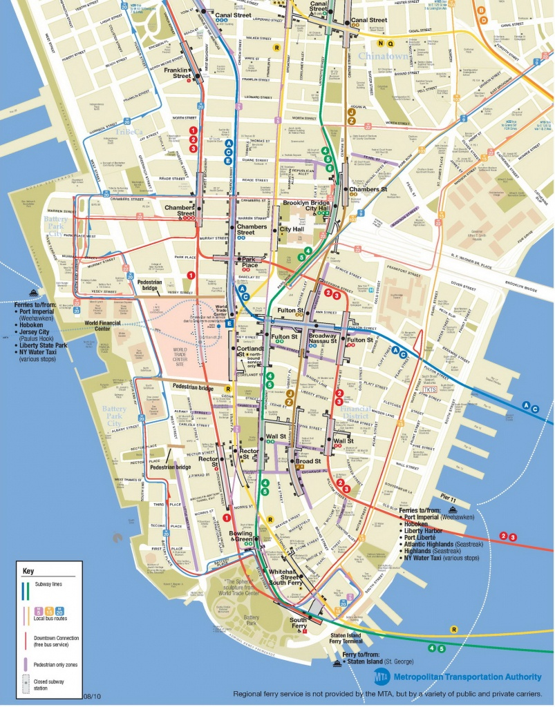 Lower Manhattan Map - Go! Nyc Tourism Guide - Manhattan City Map Printable