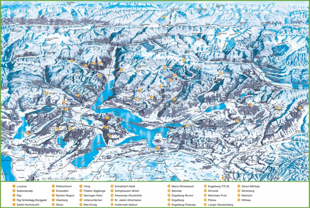 Lucerne City Maps | Switzerland | Maps Of Lucerne (Luzern) - Printable Tourist Map Of Lucerne