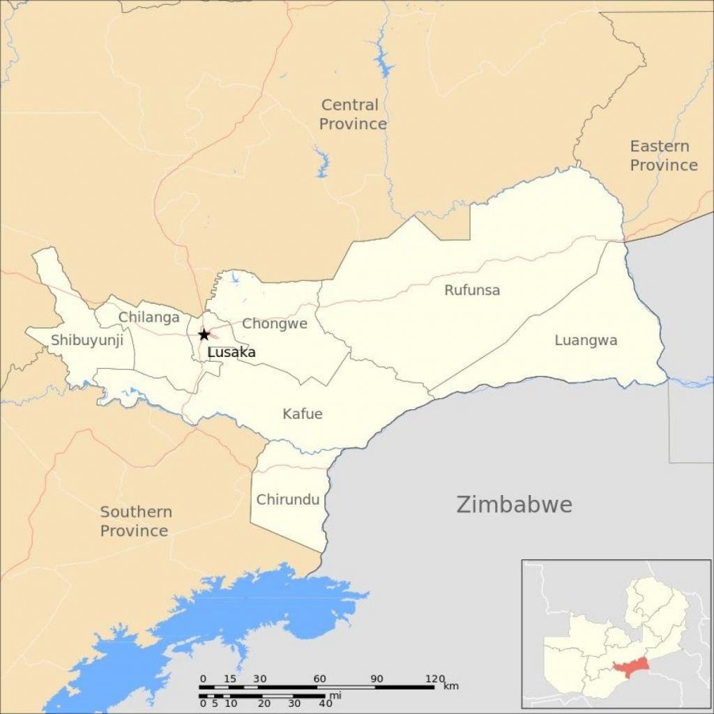 Lusaka Zambia Map - Map Of Lusaka Zambia (Eastern Africa - Africa) - Printable Map Of Lusaka