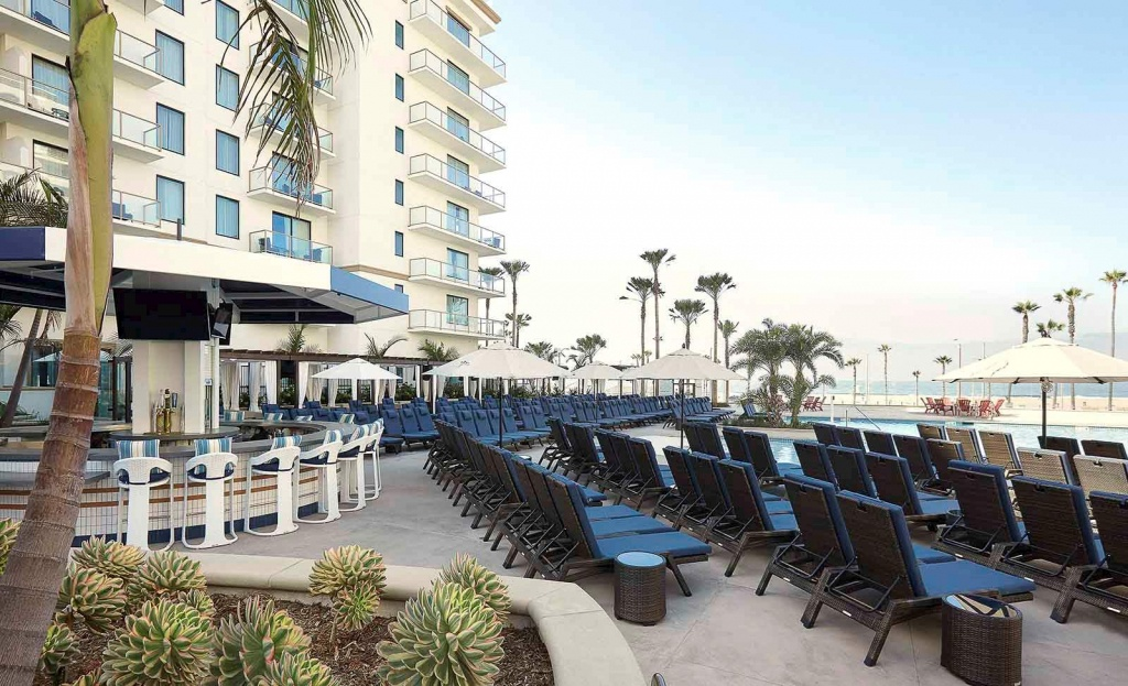 Luxury Hotel In Huntington Beach - The Waterfront Beach Resort - Map Of Hilton Hotels In California