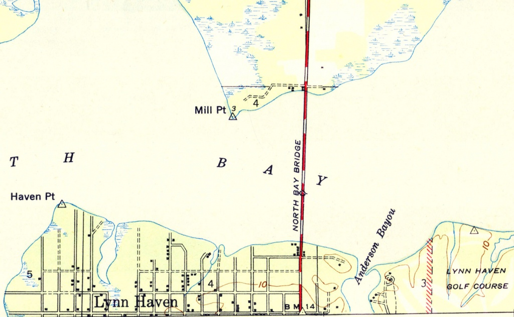 Lyn Haven, Florida, 1944 - Lynn Haven Florida Map