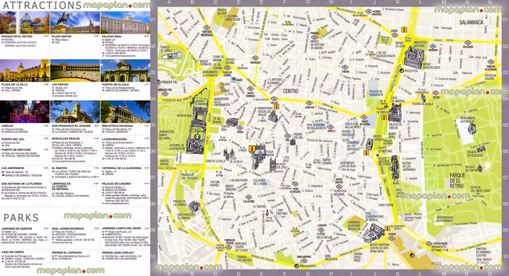 Madrid Maps - Top Tourist Attractions - Free, Printable City Street - Madrid City Map Printable