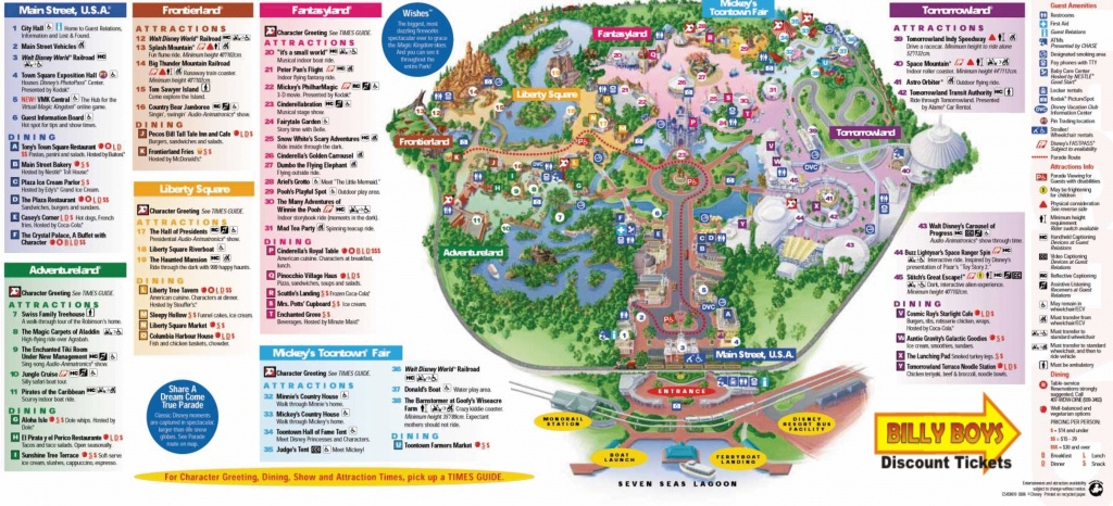 Magic Kingdom Disney World Map Pdf Save Cute Walt Park Maps 8 - Disney Springs Florida Map
