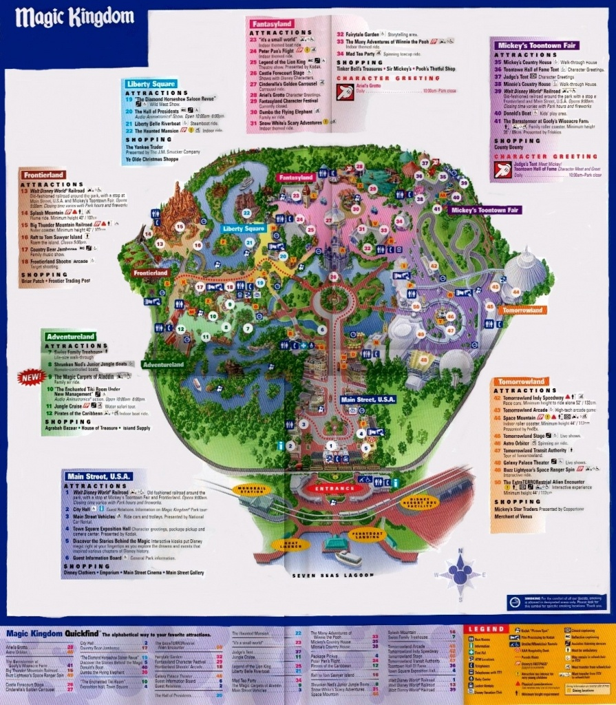 Magic Kingdom - Florida Theme Parks - Map Of Magic Kingdom Orlando Florida