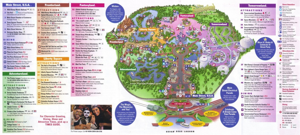 Magic Kingdom Guidemaps - Map Of Magic Kingdom Orlando Florida