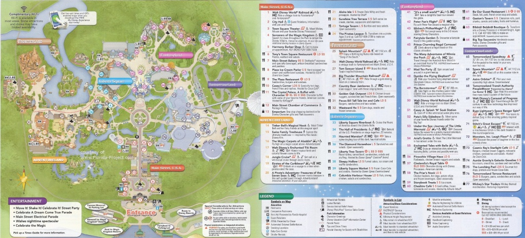 Magic Kingdom Guidemaps - Printable Magic Kingdom Map 2017