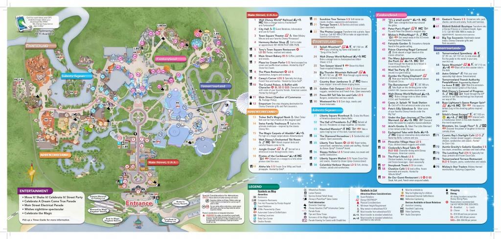 Magic-Kingdom-Map-2 | Dis Blog - Map Of Downtown Disney Orlando Florida
