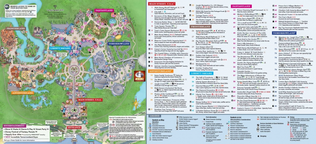 Magic Kingdom Park Map | Disney In 2019 | Disney World Map, Magic - Printable Magic Kingdom Map 2017
