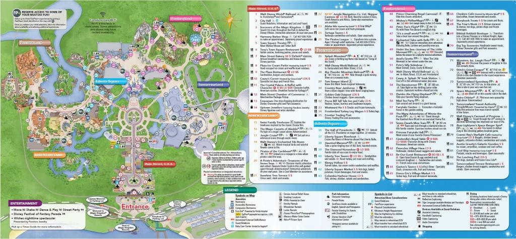 Magic Kingdom Park Map - Walt Disney World | Disney World In 2019 - Disney World Map 2017 Printable