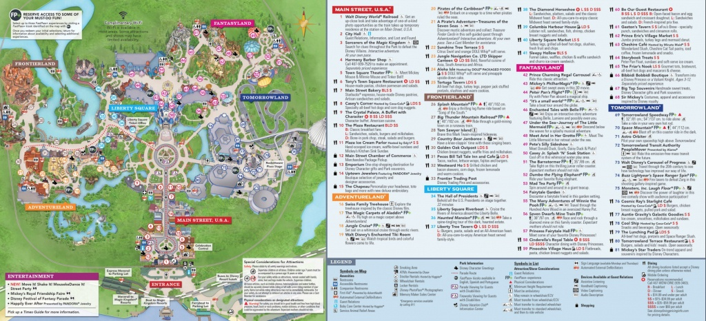 Magic Kingdom Park Map - Walt Disney World - Printable Disney World Maps 2017