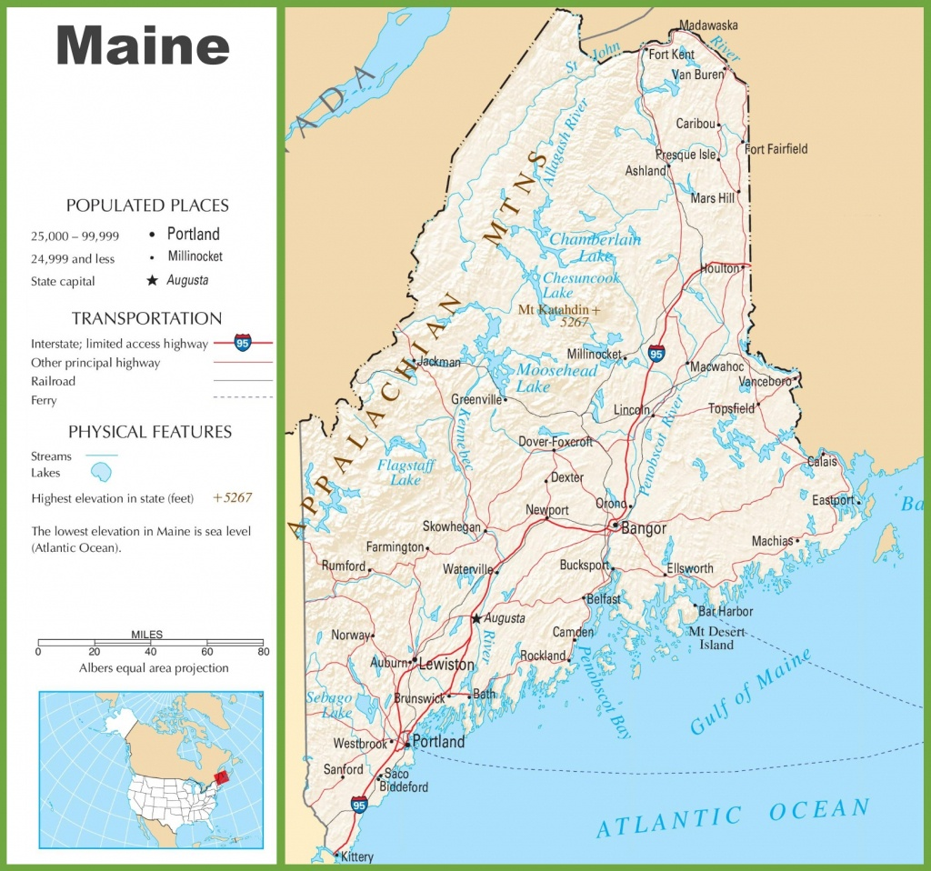 Maine Highway Map - Maine State Map Printable
