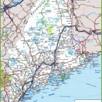 Maine Road Map   Maine State Map Printable