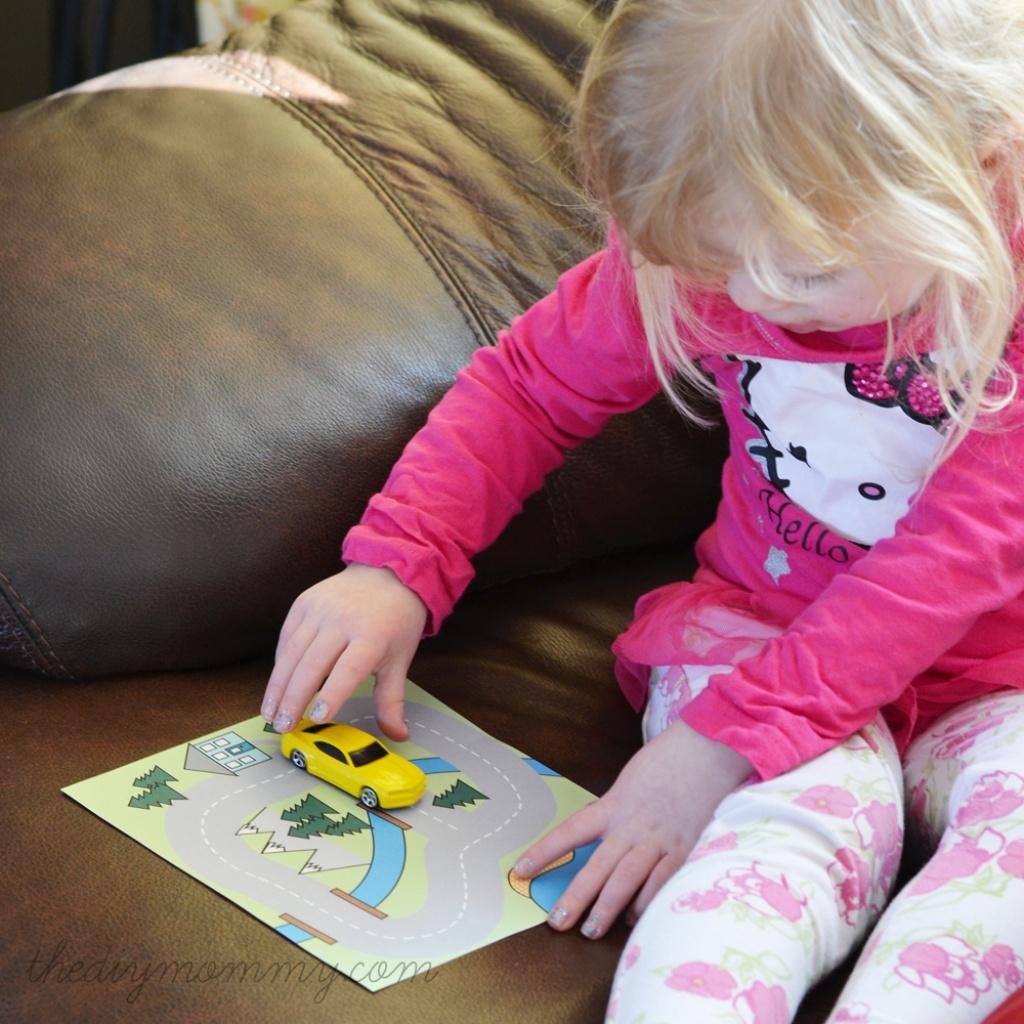 Make A Mini Road Map Busy Bag - Free Printable | The Diy Mommy - Free Printable Road Maps For Kids