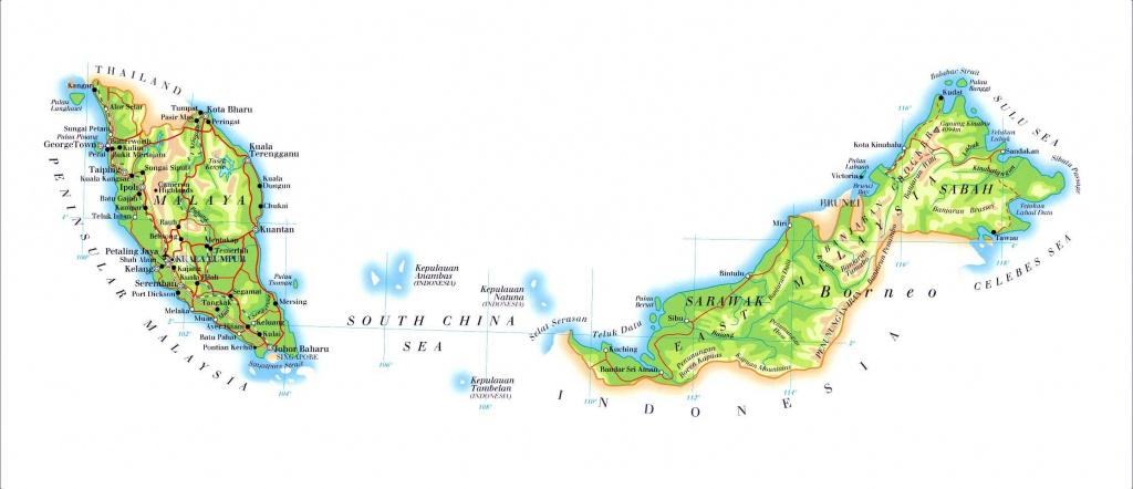 Malaysia Maps | Printable Maps Of Malaysia For Download - Printable Map Of Malaysia