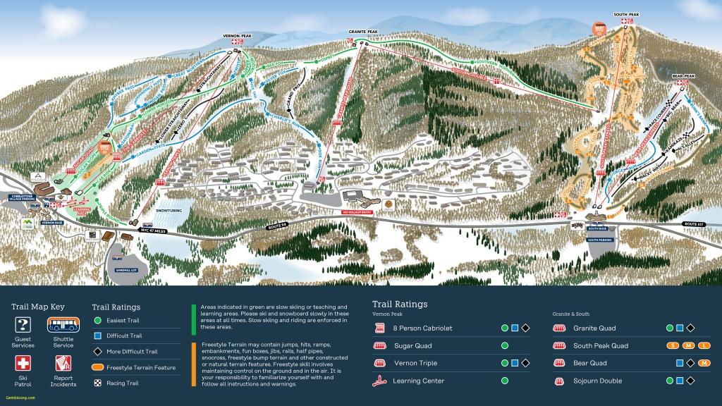Mammoth Ski Resort Map Mountain Creek Resort Trail Map - Southern California Ski Resorts Map