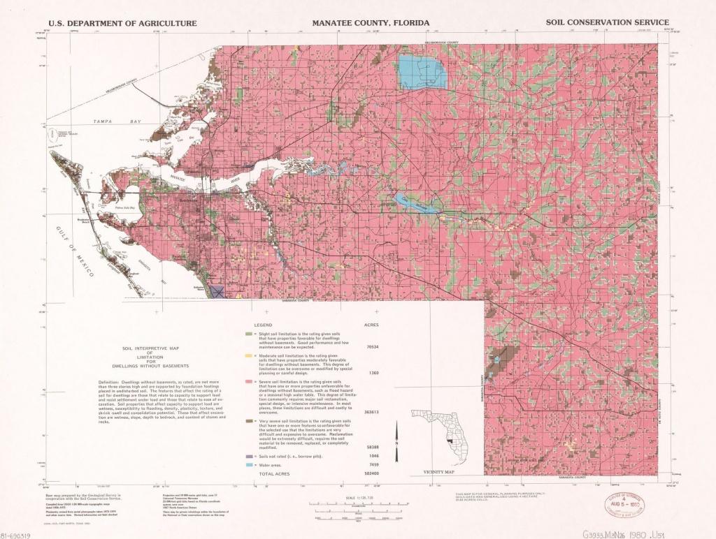 Manatee County, Florida : Soil Interpretive Map Of Limitation For - Manatee Florida Map