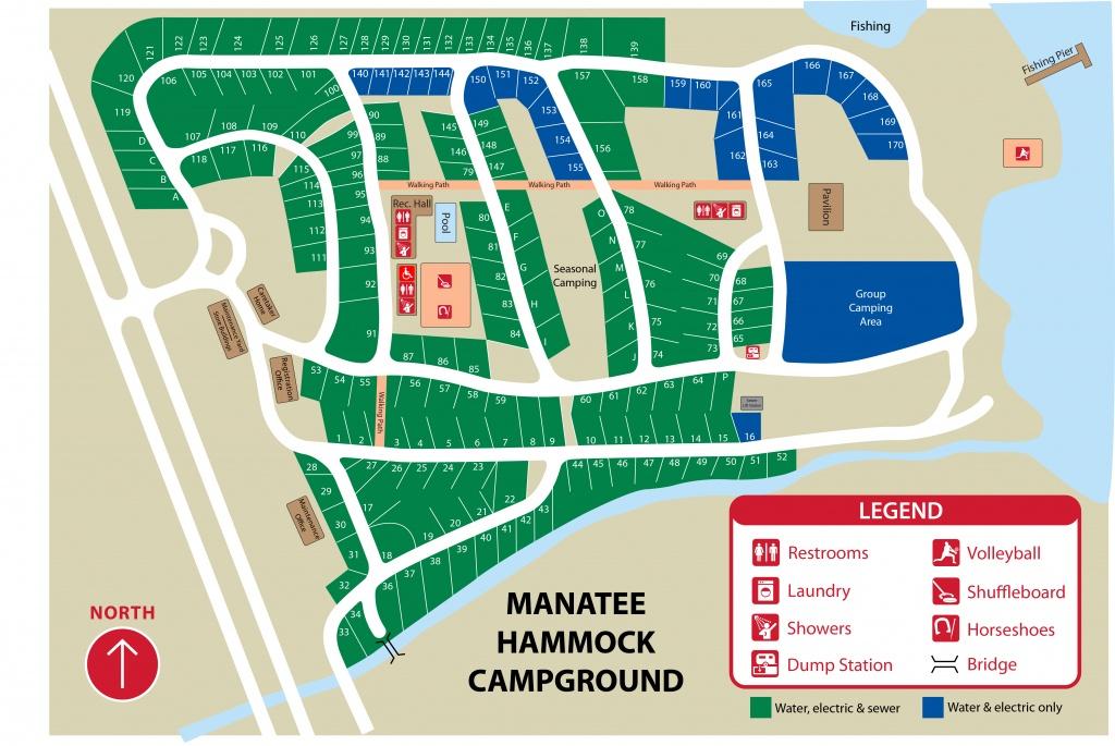 Manatee Hammock Park - Florida Campgrounds Map