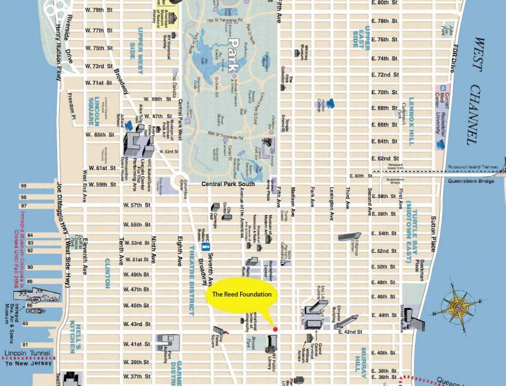 Manhattan Street Map And Travel Information | Download Free - Manhattan Road Map Printable