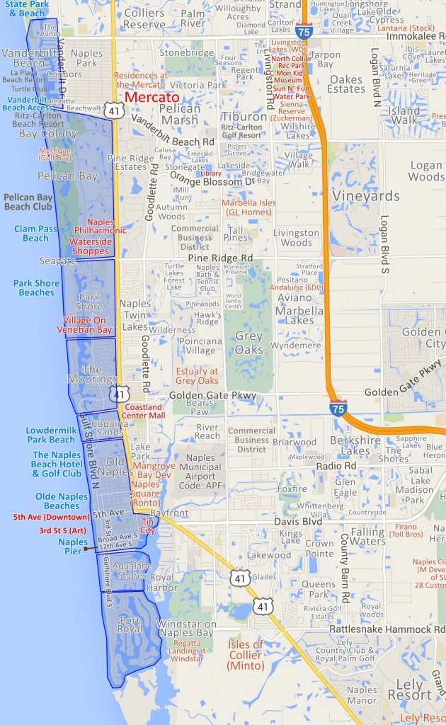 Map 20 Naples Fl Map | Ageorgio - Map Of Naples Florida Neighborhoods