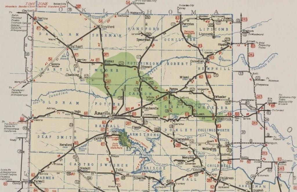 Map 2Bof 2Bamarillo 2Band 2Bpanhandle 2B1939 11 Amarillo Tx Map - Printable Map Of Amarillo Tx