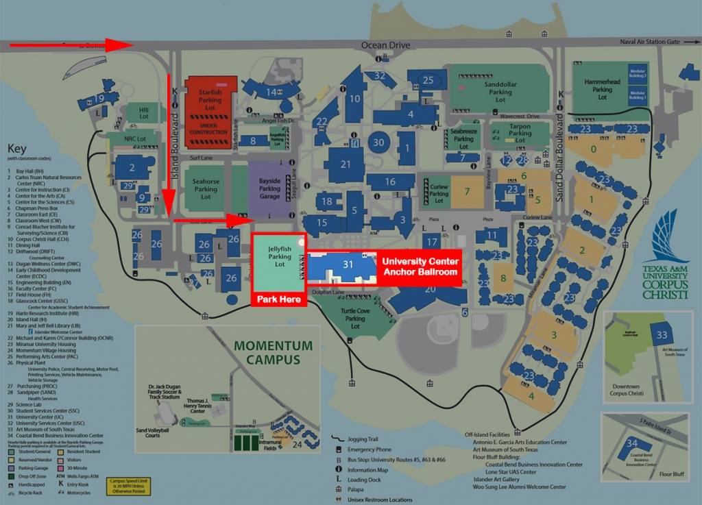 Map And Directions To Campus Texas A&m University-Corpus Christi - Texas Map Directions