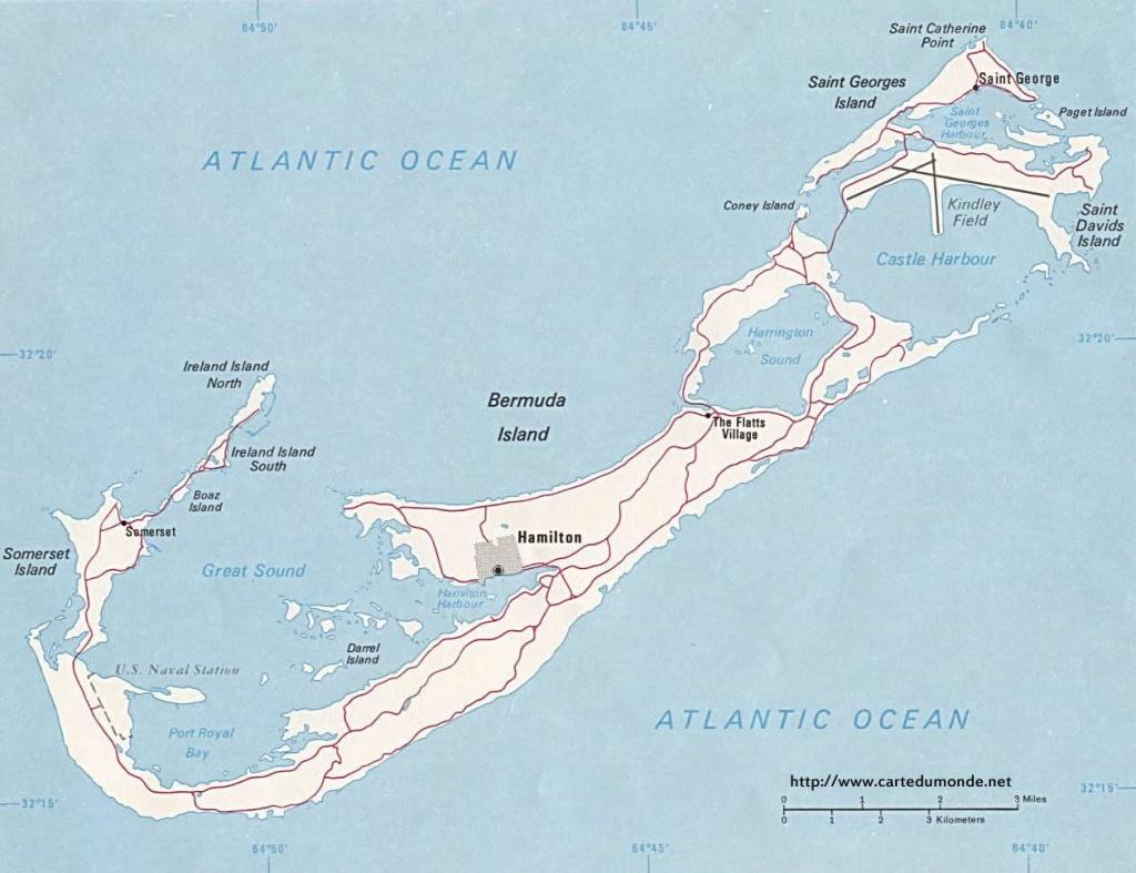 Map Bermuda, Country Map Bermuda - Printable Map Of Bermuda