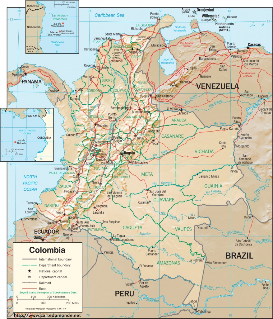 Map Colombia, Country Map Colombia - Printable Map Of Colombia
