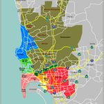 Map Defining Major Districts Of San Diego   Where Is San Diego California On A Map