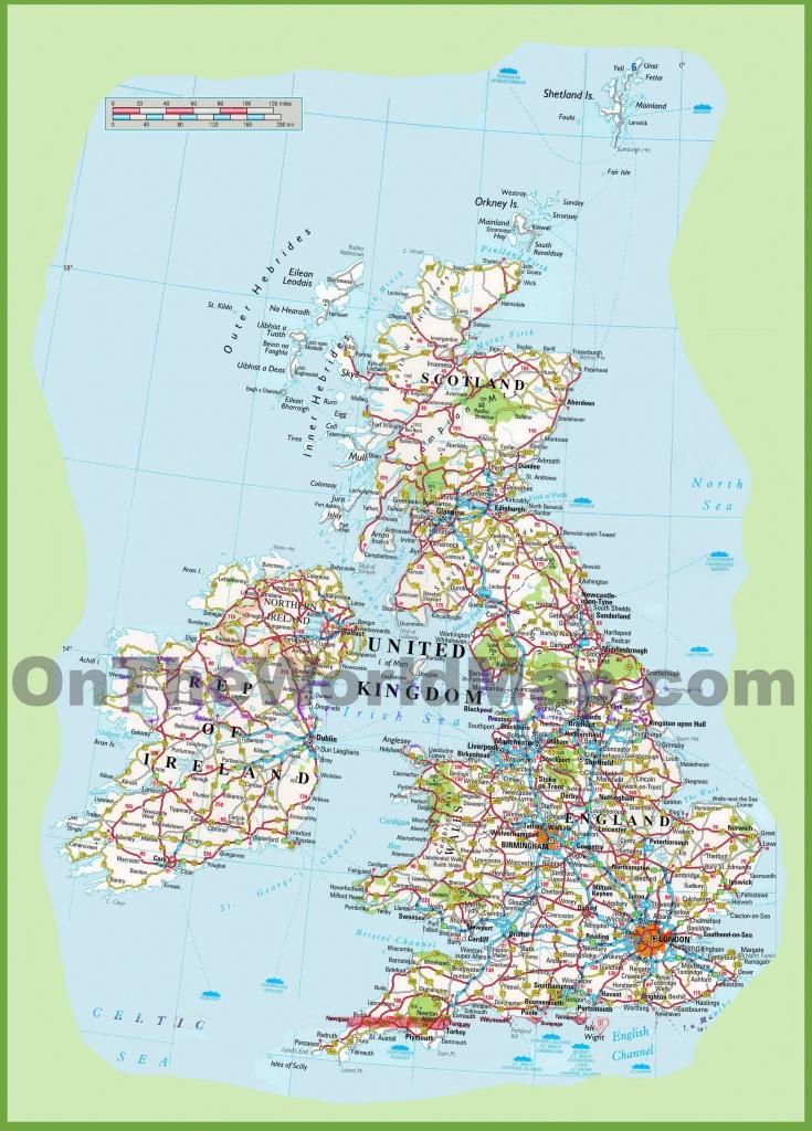 Map Free Printable Road Maps Uk - Berkshireregion - Free Printable Driving Maps