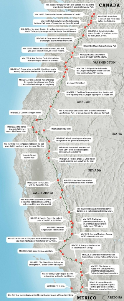 Map: Hike The Pacific Crest Trail | Road Trippin' | Trail Maps - Backpacking Maps California