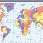 Map In Large Print Of The World Inpinks   Free Printable World Time   Large Printable Map