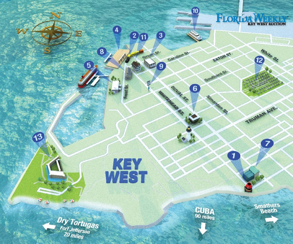 Map It Out   Key West Florida Weekly   Key West News - Key West Street Map Printable