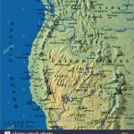 Map Maps Usa California Oregon Washington State Stock Photo: 3933899   Oregon California Map