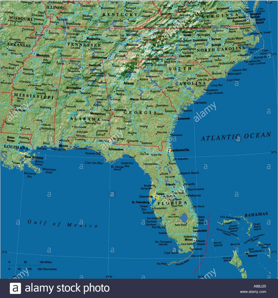 Map Maps Usa Florida Caribbean Stock Photo: 3933732 - Alamy - Map Of Florida And Caribbean