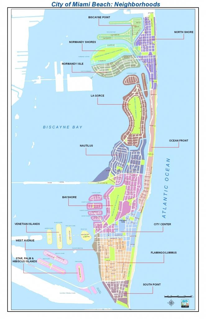 Map Miami Beach | Dehazelmuis - Map Of Miami Beach Florida
