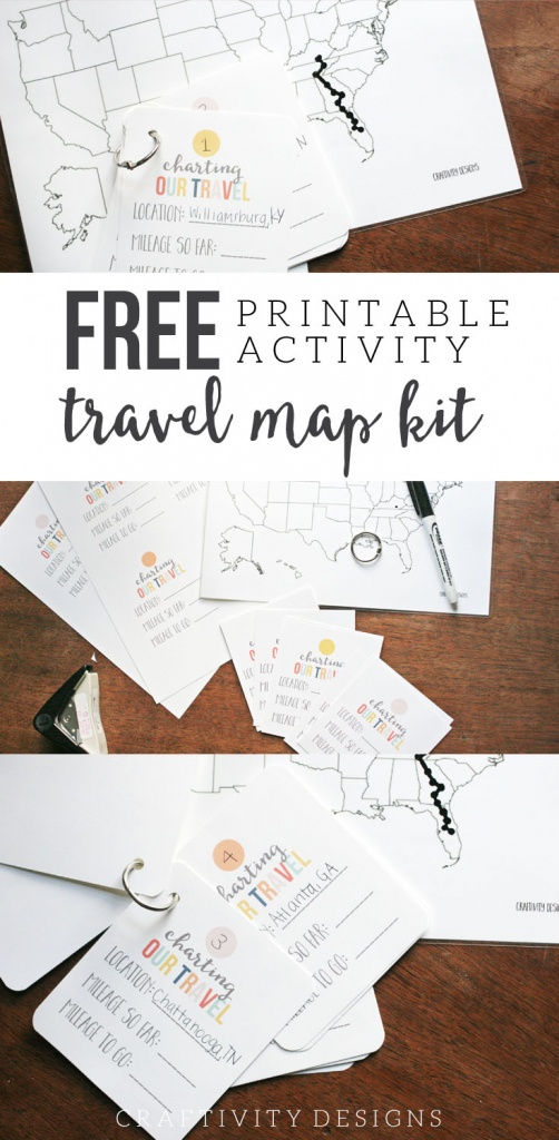 Map My Trip For Kids | Charting Travel With A Free Map Template - Road Trip Map Printable