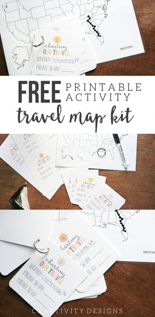 Map My Trip For Kids | Free Printables And Templates | My Travel Map - Printable Road Trip Maps