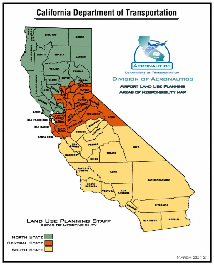Map Of Central And Northern California Coast
