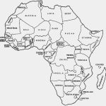 Map Of Africa Coloring Page Outline Map Of Africa With Countries   Printable Map Of Africa With Countries Labeled