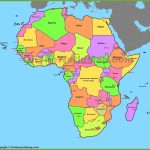 Map Of Africa With Countries And Capitals   Printable Map Of Africa With Countries Labeled