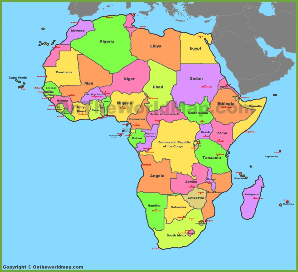 Map Of Africa With Countries And Capitals - Printable Map Of Africa With Countries Labeled