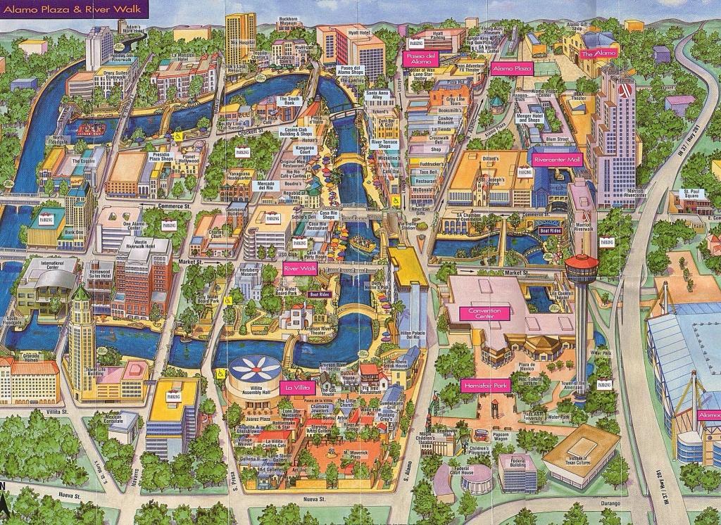 Map Of The Alamo San Antonio Texas   Printable Maps