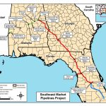 Map Of All Three Pipelines, In Notice Of Intent,ferc, For   Florida Natural Gas Pipeline Map
