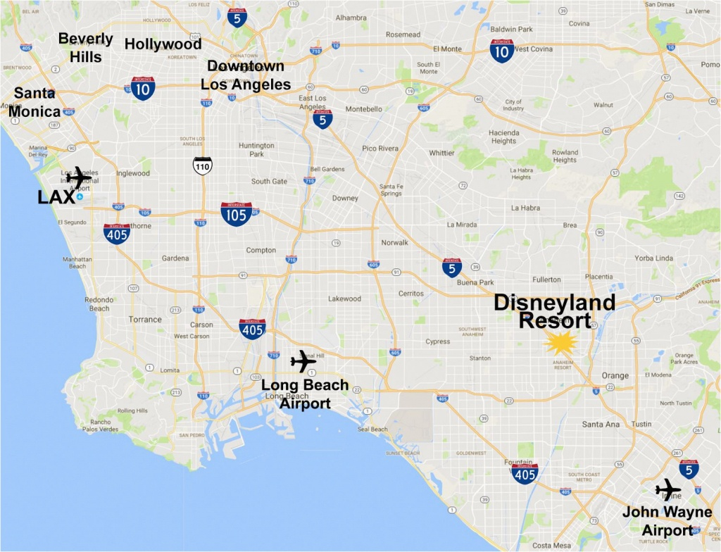 Map Of Anaheim California Area Maps Of The Disneyland Resort - Map Showing Anaheim California