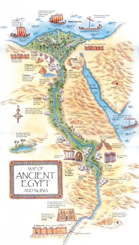 Map Of Ancient Egypt & Nubia. Mystery Of History Volume 1, Lesson 11 - Ancient Egypt Map Printable